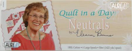 Quilt In A Day Thread Collection by Eleanor Burns 50wt 6 Large Spools