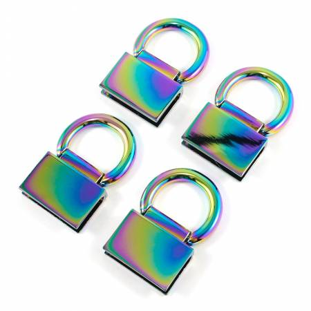 Edge Connector Strap Anchors in Iridescent Rainbow