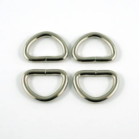 D-rings for 1/2in Straps Nickel