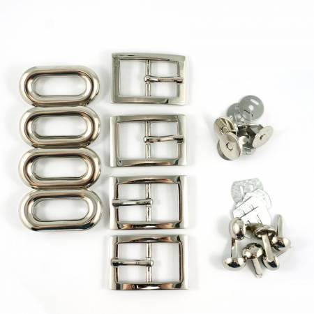 Totes Ma Tote Hardware Kit - Nickel