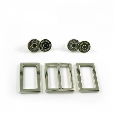 Manhattan Bag Hardware Kit - Nickel