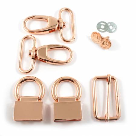 Double Flip Shoulder Bag Hardware Kit Copper