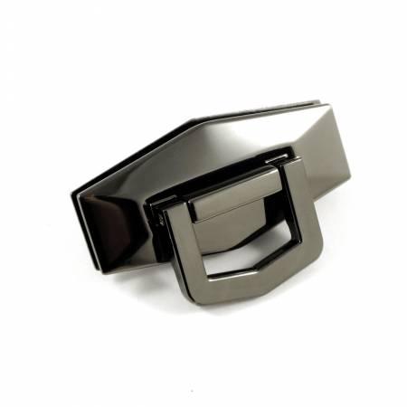 Bag Closure Flip Lock Large Gunmetal
