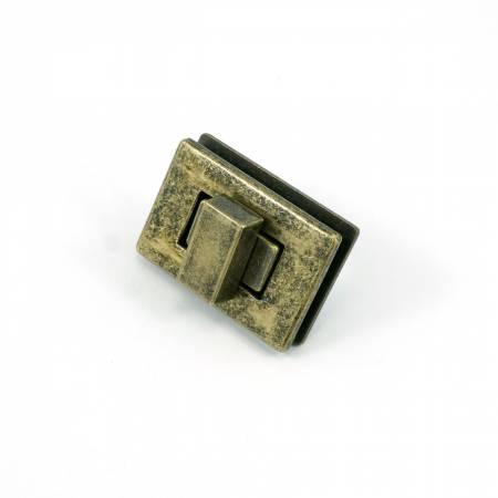 Rectangle Turn Lock Antique Brass by Emmaline