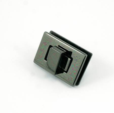 Rectangle Turn Lock Gunmetal by Emmaline