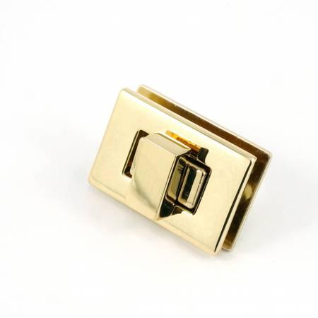 Rectangle Turn Lock Gold by Emmaline
