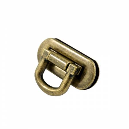 Oval Flip Lock Antique Brass