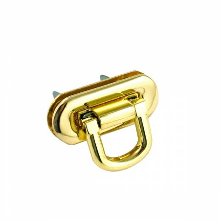 Oval Flip Lock Gold