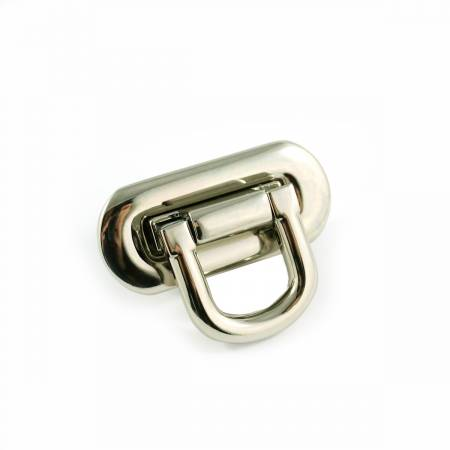 Oval Flip Lock Nickel