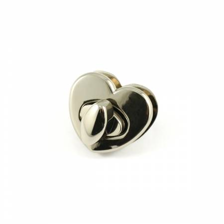 Heart Shaped Bag Lock Nickel