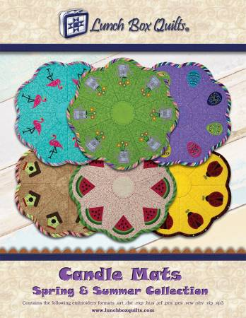 *Candle Mats Spring and Summer Applique Machine Embroidery