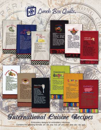 International Cuisine Recipe Collection Machine Embroidery