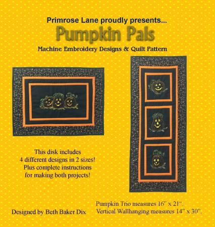 Pattern CD Pumpkin Pals Mini Quilts Machine Embroidery