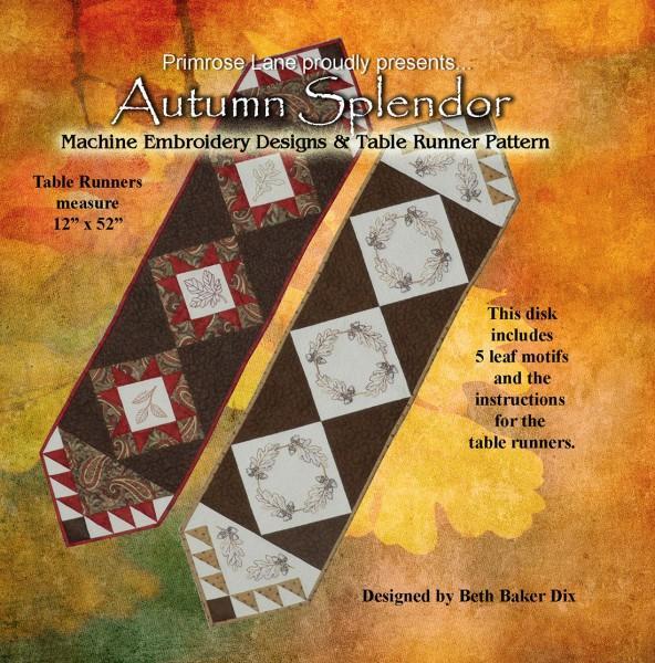 Autumn Splendor Table Runner Embroidery CD