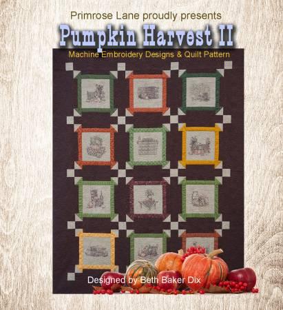 Pumpkin Harvest II Machine Embroidery Quilt