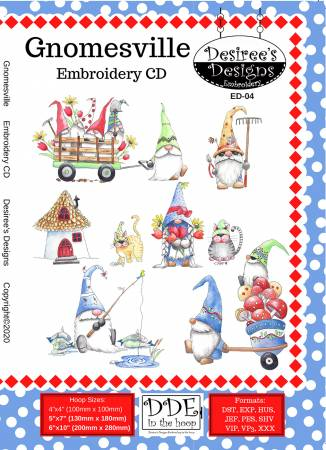 Gnomes Embroidery CD