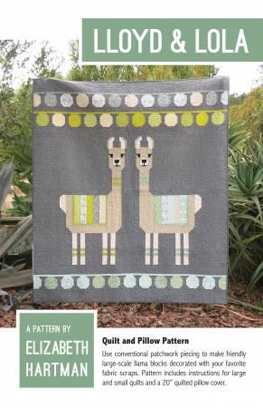 Elizabeth Hartman Lloyd & Lola Pattern EH-032 Pillow Cover 20 X 20 - Small Quilt 45 X 60 - Large Quilt 61 X 70