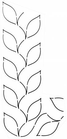 Quilt Stencil Fern Border 3-1/2in