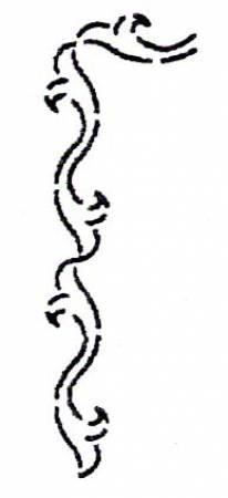 Stencil - Scroll Border