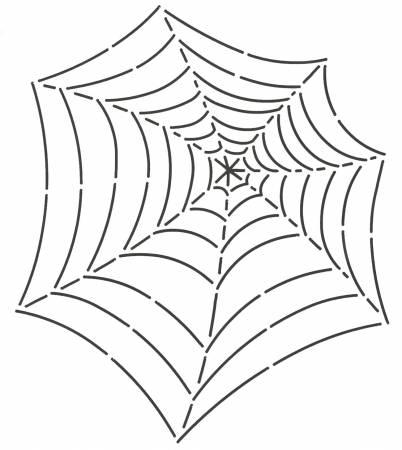 Spider Web 7 1/2  x 9 Stencil