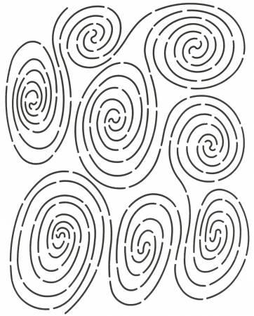 Quilt Stencil Rain Circles