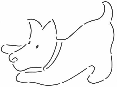 Stencil 7 Scotty Dog Crouching