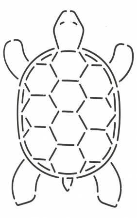 Turtle Stencil  4in x 6-1/2in