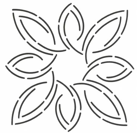 5in Pear Leaf Medallion Stencil