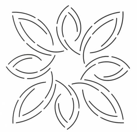 Notions 7in Pear Leaf Medallion Stencil