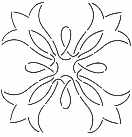 7in Pear Blossom Stencil