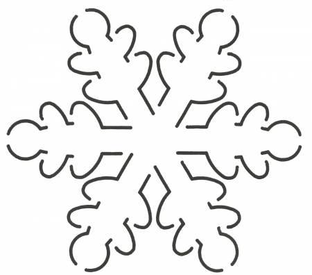 Quilt Stencil Snowflake