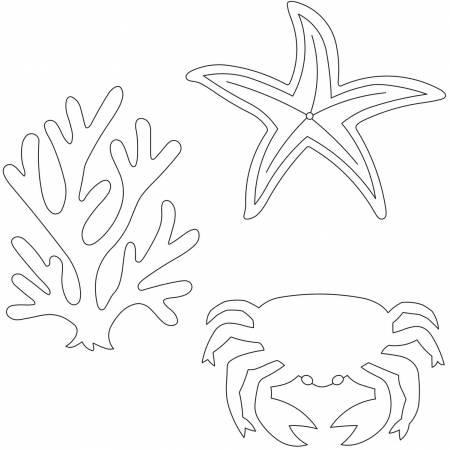Sea Life Quilting Stencil 5?