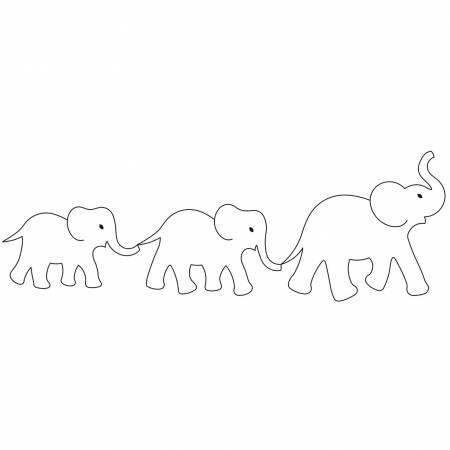 Elephant Parade Quilting Stencil 5?