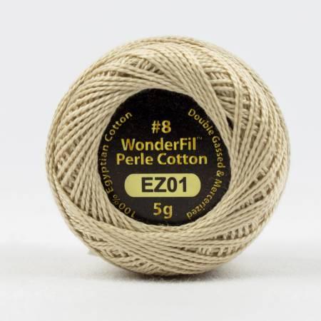 Eleganza 8wt 5-Gram Solid Perle Cotton Ball 42yd Sea Shell
