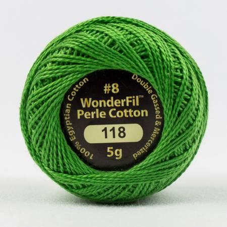 Eleganza 8wt 5-Gram Solid Perle Cotton Ball 42yd Evergreen