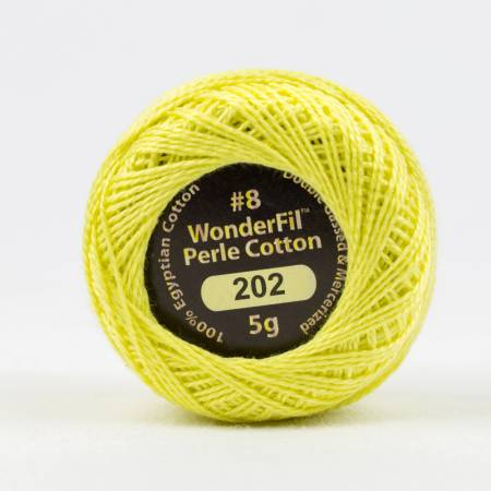 Eleganza 8wt 5-Gram Solid Perle Cotton Ball 42yd Corn