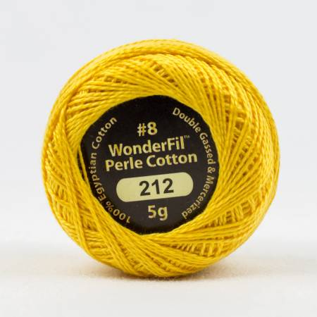Eleganza 8wt 5-Gram Solid Perle Cotton Ball 42yd Tangerine