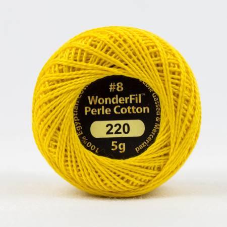 Eleganza 8wt 5-Gram Solid Perle Cotton Ball 42yd Sunglow