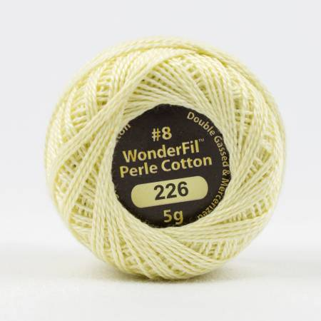 Eleganza 8wt 5-Gram Solid Perle Cotton Ball 42yd Ivory