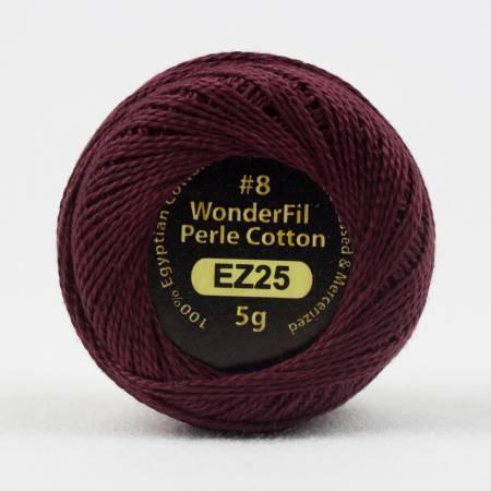 Eleganza 8wt 5-Gram Solid Perle Cotton Ball 42yd Signature Wine