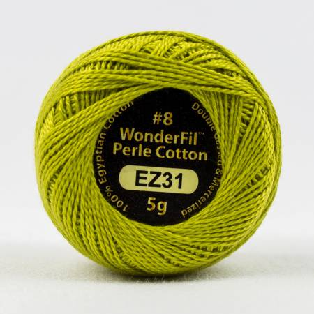 Eleganza 8wt 5-Gram Solid Perle Cotton Ball 42yd Cal-a-Treuse