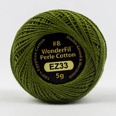 Eleganza 8wt 5-Gram Solid Perle Cotton Ball 42yd Lazy Lizard EZ33