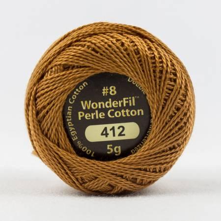 Eleganza 8wt 5-Gram Solid Perle Cotton Ball 42yd Tree Poppy