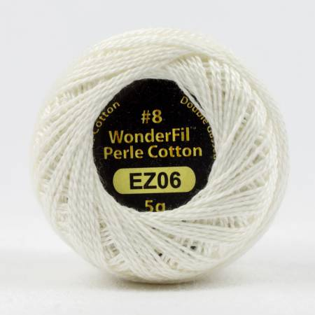 Eleganza 8wt 5-Gram Solid Perle Cotton Ball 42yd Snow Globe