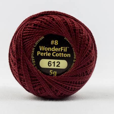 Eleganza 8wt 5-Gram Solid Perle Cotton Ball 42yd Falu Red