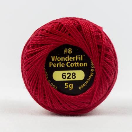 Eleganza 8wt 5-Gram Solid Perle Cotton Ball 42yd Alizarin