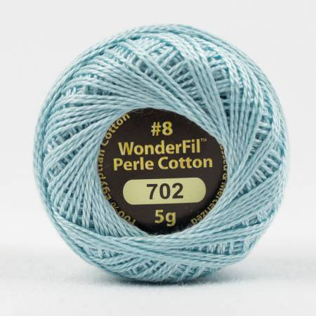 Eleganza 8wt 5-Gram Solid Perle Cotton Ball 42yd Sky Blue