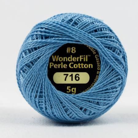 Eleganza 8wt 5-Gram Solid Perle Cotton Ball 42yd Havelock Blue