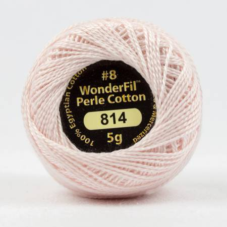 Eleganza 8wt 5-Gram Solid Perle Cotton Ball 42yd Fair Pink