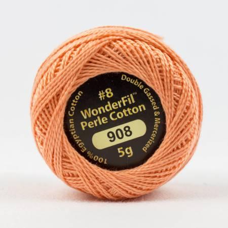 Eleganza 8wt 5-Gram Solid Perle Cotton Ball 42yd Grape Fruit